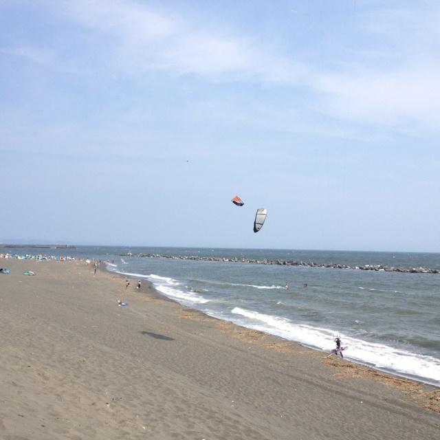 平塚ビーチ カイトサーフィン