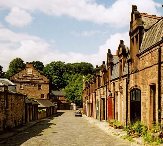 Belford Mews and Whytock & Reid  -  close to the Water of Leith