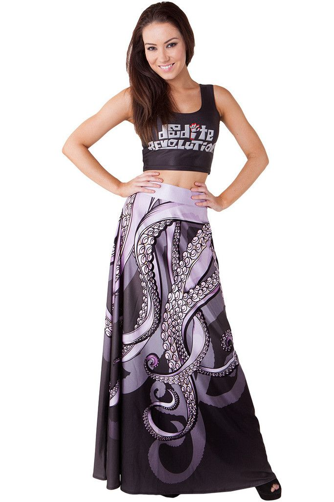 Living Dead Clothing - Sea Witch Maxi Skirt, Size M/L (OWNED)