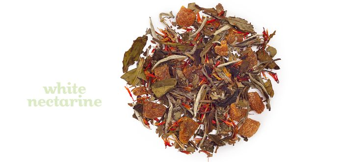 White Nectarine - Apricot, white tea, blackberry leaves, safflowers, natural nectarine flavouring
