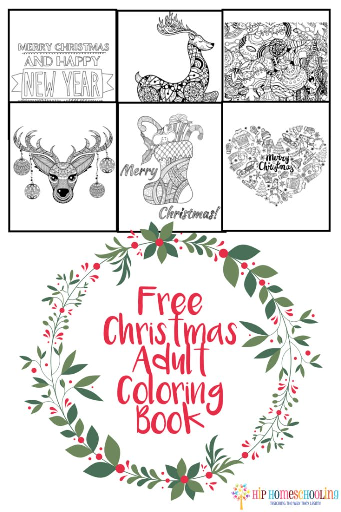 Adult Coloring Book Reduce Holiday