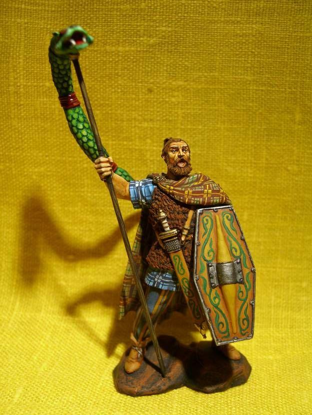 Германский воин с флагом в виде дракона
