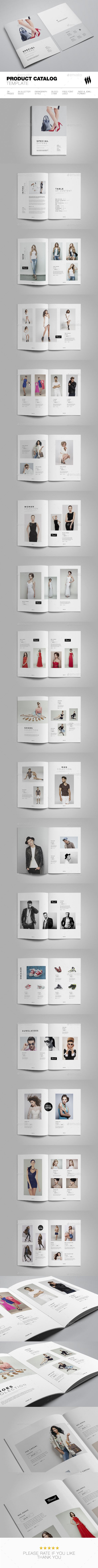 Product Catalog Template — InDesign INDD #print ready #product brochure • Download ➝ https://graphicriver.net/item/product-catalog-template/19180182?ref=pxcr