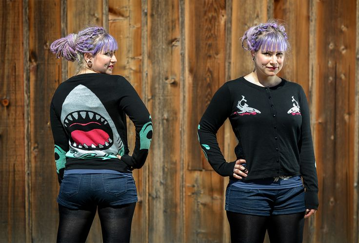 FACT: Sharks are the coolest things to ever live ever and this cardigan comes in second.   https://www.shopculture.ca/shop/Womens/details/JawsSideSlashedCardigan