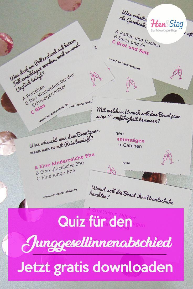 Braut-Quiz für den JGA