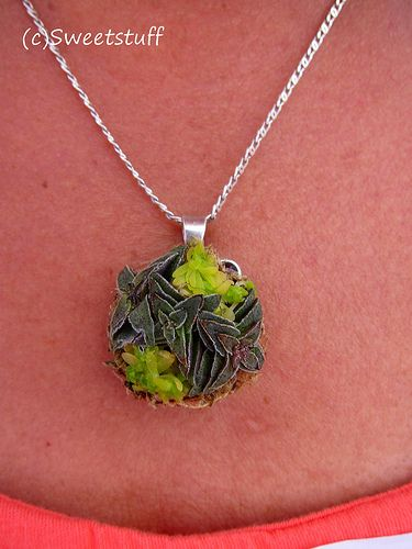 "Succulent necklace by Laura Balaoro | Sweetstuff ""Candy"" 