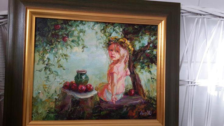 """obraz olejny """"W sadzie"""" polecam"""
