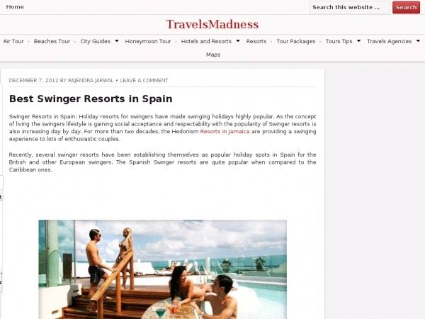 Adult resort swinger