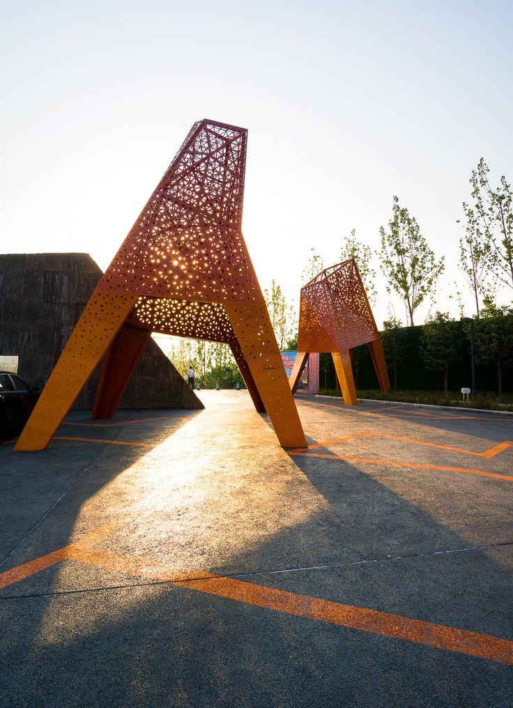 Galería de Arquitectura y Paisaje: Pabellones de metal perforado se elevan por encima de un parque por Martha Schwartz - 29