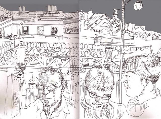 Brighton station by Myfanwy Nixon (Sketchcrawl): Myfanwy Nixon, Brighton Station, Railway Station, Sketch Crawl, Nixon Sketchcrawl, Brighton Railway, Drawings Of, Making Journals