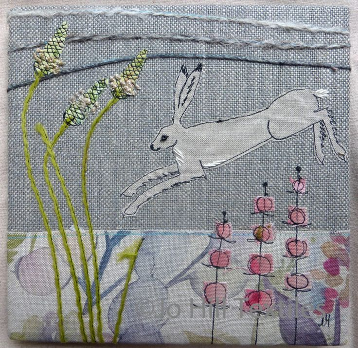 Hare leaping
