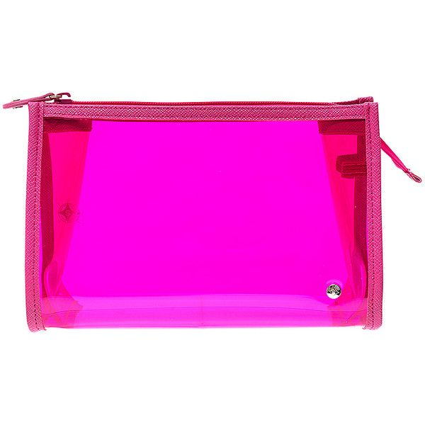 Stephanie Johnson Miami Medium Zip Cosmetic Case - Fuchsia - Toiletry... ($24) ❤ liked on Polyvore featuring beauty products, beauty accessories, bags & cases, pink, wash bag, purse makeup bag, make up bag, stephanie johnson and makeup bag case
