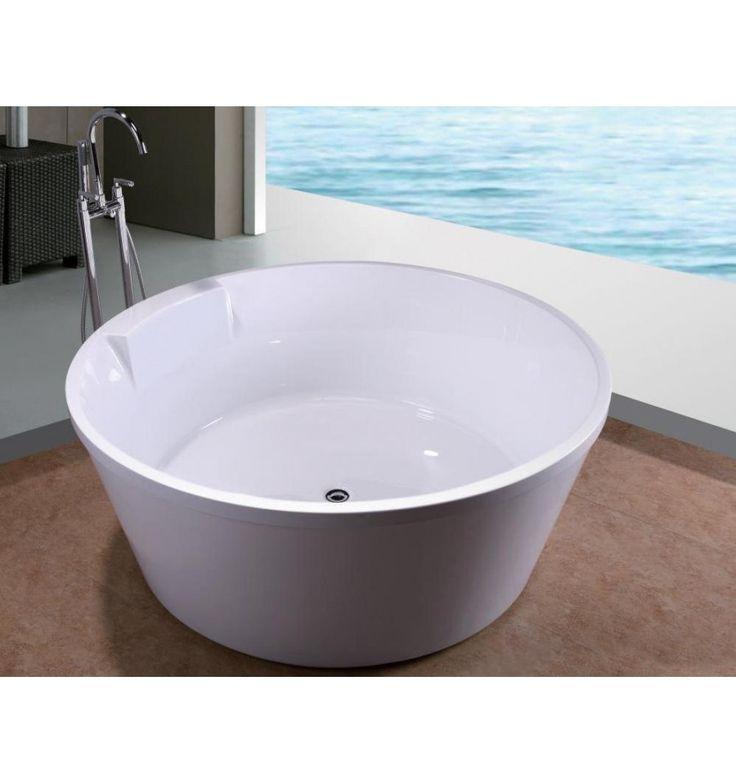 17 best ideas about mobilier salle de bain on pinterest salle de bains chic - Baignoire ilot 150 cm ...