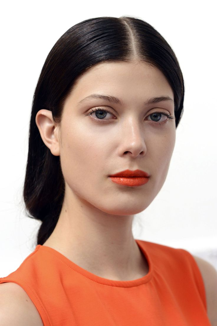The Best Beauty Looks From New York: Spring 2015 - Orange Lips