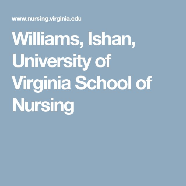 Williams, Ishan, University of Virginia School of Nursing