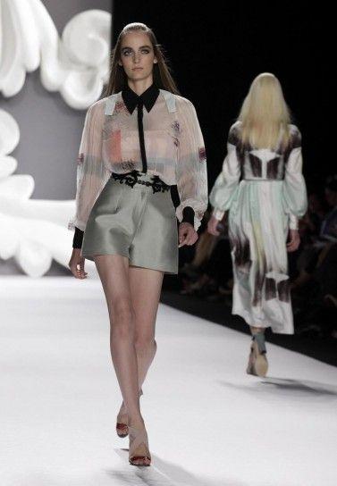 Camicetta trasparente di Carolina Herrera 2013