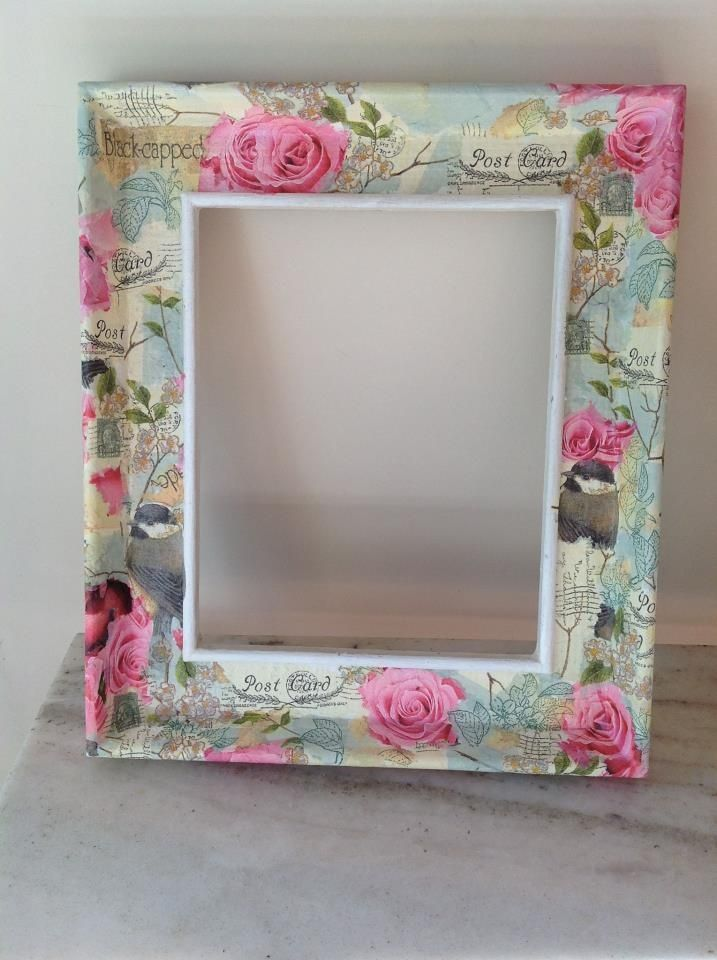 Shabby decoupage frame for Shabby chic frames diy