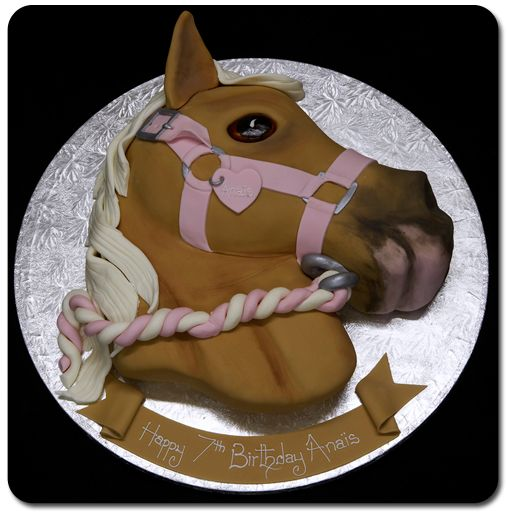 Cute horse design. Great for a little girls birthday party!