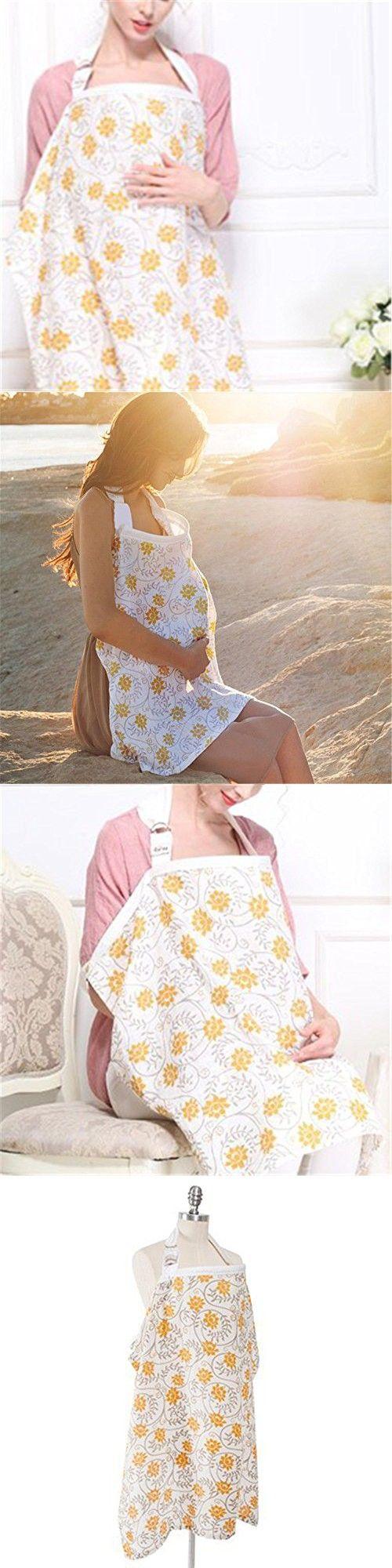 Anbaby Privacy Nursing Cover Baby Mum Breastfeeding Nursing Poncho Cover Up Udder Covers Cotton Blanket Shawl (B)