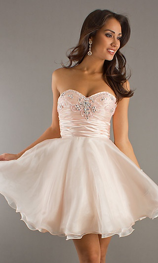 Short Strapless Party Dress at PromGirl.com: Short Strapless, Homecoming Dresses, Party Dresses, Shorts, Grad Dress, Strapless Party Dress, Prom Dresses, Homecoming Prom