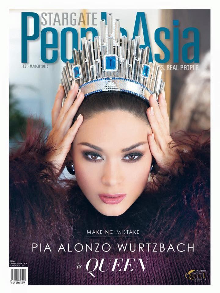 Pia Alonzo Wurtzbach (Miss Universe 2015) - Cover Stargate People Asia