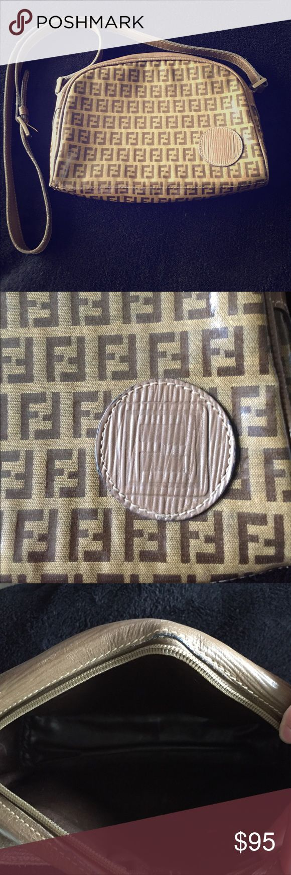 Authentic vintage Fendi purse This beautiful real vintage Fendi purse is in good condition the body of the bag is in very good condition! A little wear by the zippers other than that it's in great shape. Made in Italy dimensions are 10.5x7.5 Fendi Bags Crossbody Bags