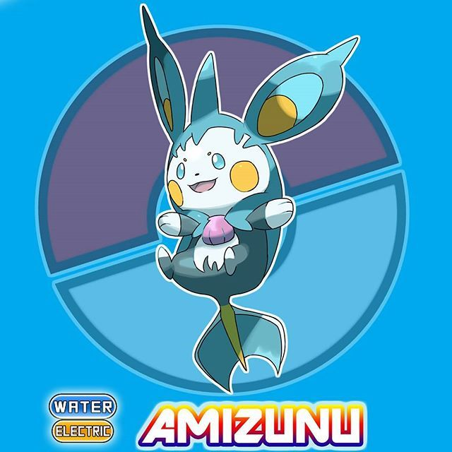 ⏺⏺PILAGO REGION POKEDEX⏺⏺ . . . . . #75 AMIZUNU EVOLVED FROM CHIMIZU by giving it water stone Water Mouse pkmn HT: 0.90m WT: 37.89kg TYPE: Water/Electric ABILITY: Static / Water Absorb . INFO: It electrocutes it's enemy and stabbing them with its horn when they got aggressive. Its horn can also be used as a radar to its surrounding when it cannot see. They can also swim fast as a jet and they often challenge people on a race. . . . #pilagopokedex #pokemon #pokemonfanart #fakemon #fakemonart…