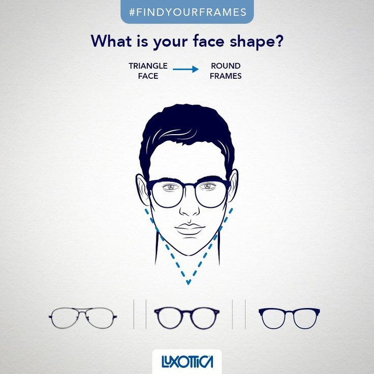 If you have a triangle face, widest at the forehead and gradually narrowing trough to the jaw, you can choose rounder frames to give proportions to your lineaments. Try pilot, phantos or round frames. #FindYourFrames