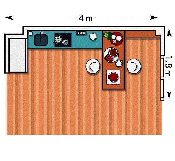 M s de 25 ideas incre bles sobre cocina cuadrada en - Cocina cuadrada distribucion ...