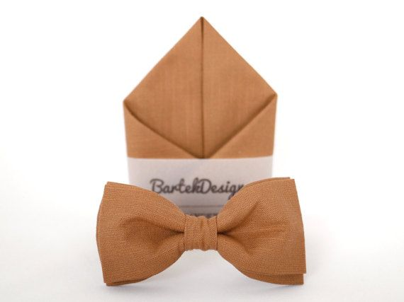 Set Bow Tie & Pocket Handkerchief by BartekDesign: by BartekDesign