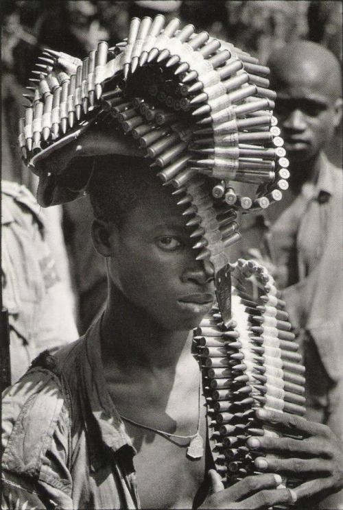 "semioticapocalypse:  "" Igbo soldier during the Nigerian Civil War, November, 1968  [::SemAp::]  """