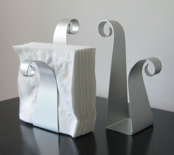 Scroll Napkin Holder by steelribbons on Etsy, $20.00