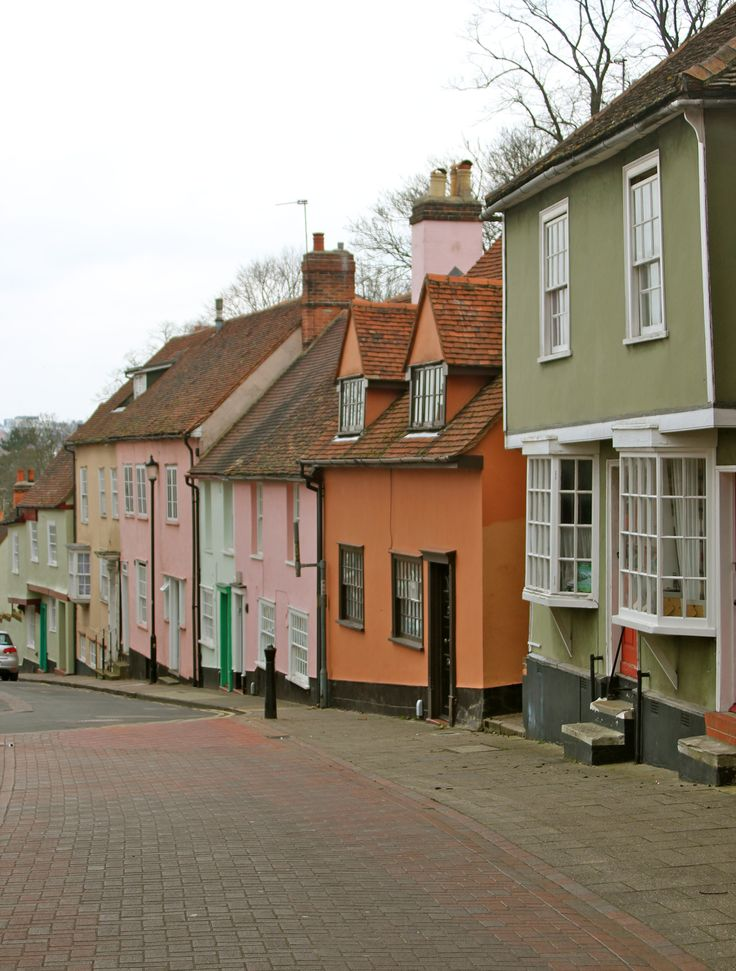 Dutch style 17th century town houses in Colchester, Essex, England, UK