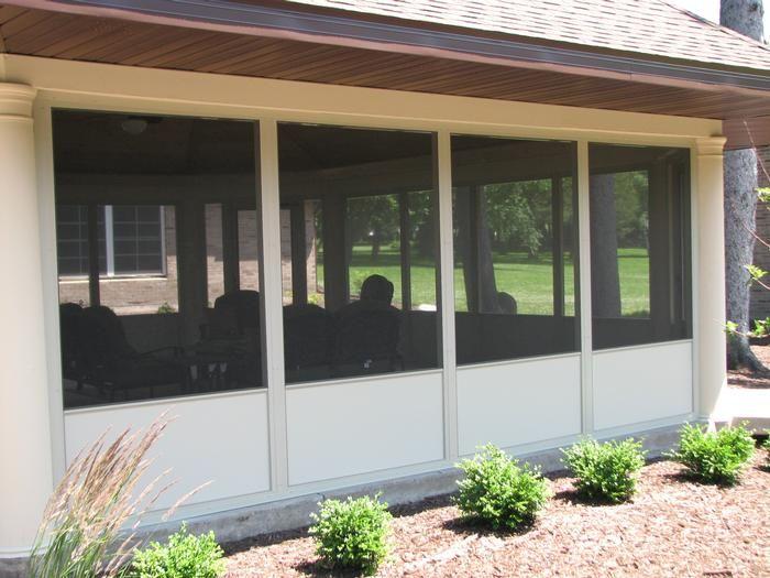 Kick Panel Enclosure Aluminum Screen Screened In Porch