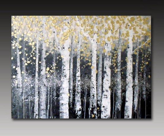 Original abstract landscape Arcrylic painting on by YueJinArt
