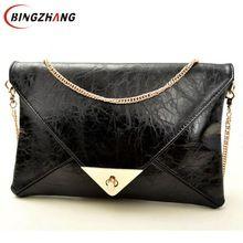 2016 saco de embreagem Envelope saco do mensageiro do ombro bolsa bolsas de couro das mulheres pu Promoção Quente! L4-399(China (Mainland))