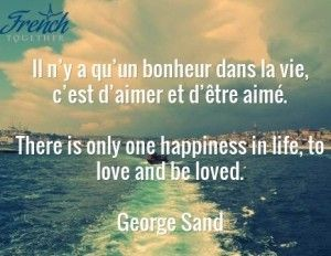 a LOT of french sayings about love