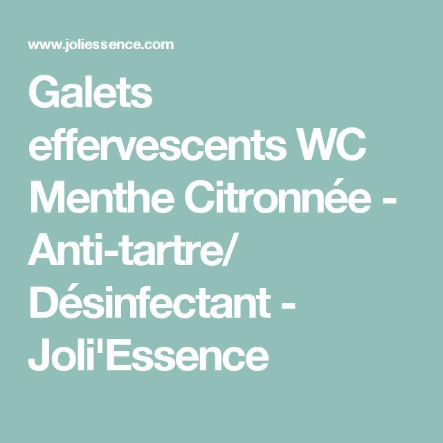 Galets effervescents WC Menthe Citronnée - Anti-tartre/ Désinfectant - Joli'Essence