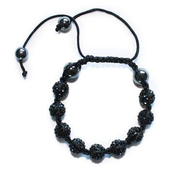 Mens and Women's Night Shamballa Bracelet - Venture Collection - Online Fashion Accessories Store with Free Shipping