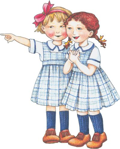 Great minds think alike and this is true of my sister and I!!! Reminds me of Katy and me in our Catholic School uniforms.