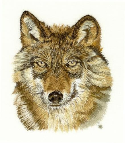 EMBROIDERY WOLVES « EMBROIDERY & ORIGAMI