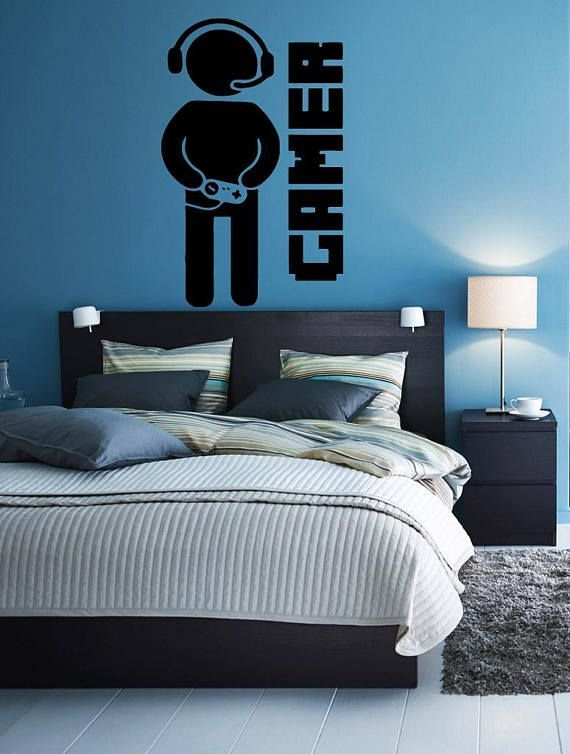 Wall Sticker Decal gamer quote controller video game boys bedroom 1710b –  – #DiyGamer