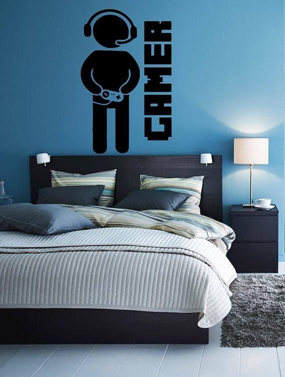 Gamer Controller Video Games Wall Vinyl Sticker Decals Mural Room Design Pattern Art Bedroom xbox 1710b – #controller #decals #gamer #games #sticker