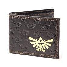 Zelda bruine bifold portemonnee met gouden logo - Games merchandise