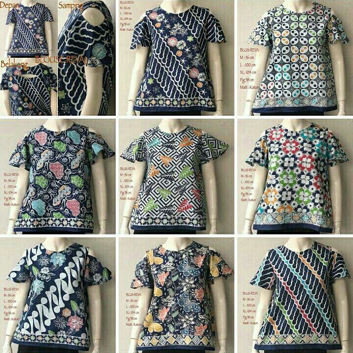Blouse Batik Modern Reva Atasan Batik Bahan Katun Halus Size : M : 96CM L. : 100CM XL:  104CM  Panjang Baju : 58cm  Cocok untuk acara Formal atau Santai #blousewanita #blousecantik #blousemurah #blusbatik #bluswanita #blousekerja #bluskantor #batikindonesia #jual #jualonline