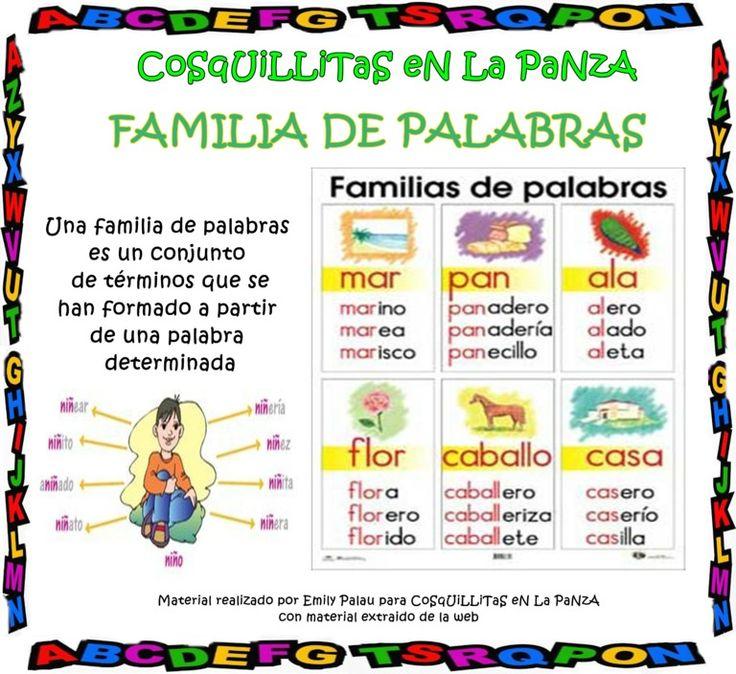 Famila-de-palabras By CoSqUiLLiTaS EN La PaNzA Via