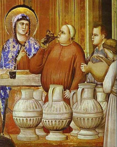 Giotto - The Wedding Feast at Cana. Detail. 1304-1306. Fresco. Capella degli Scrovegni, Padua by renzodionigi, via Flickr