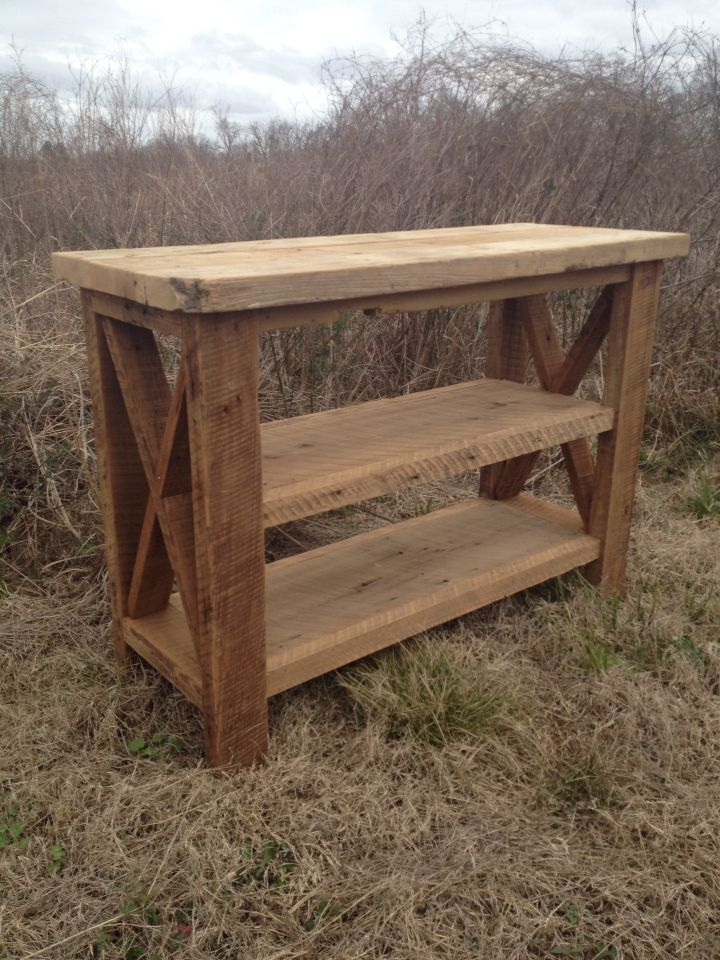 Rustic table  Find us on FaceBook Monceret's Fine Woodworking