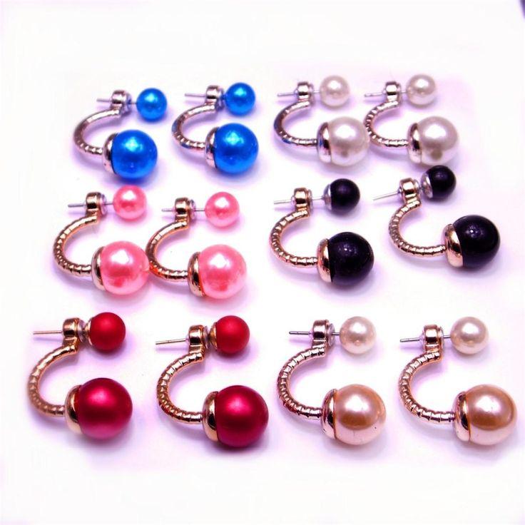 Modeschmuck ohrringe perlen  Die besten 25+ Perlenohrringe doppelt Ideen auf Pinterest ...