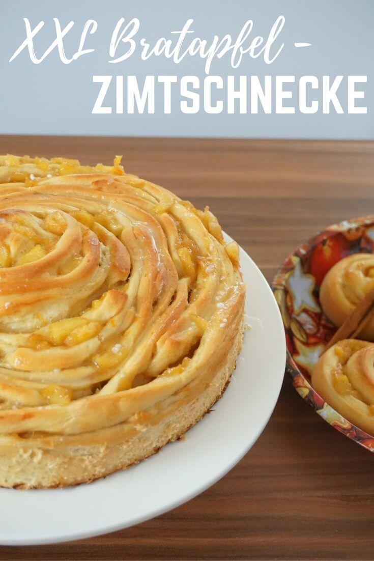 Riesen Bratapfel-Zimtschnecke